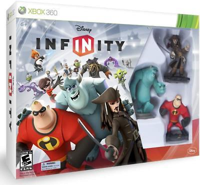 Disney Infinity Starter Pack Xbox 360 Captain Jack Sparrow Mr. Incredible Sulley for sale  Shipping to India