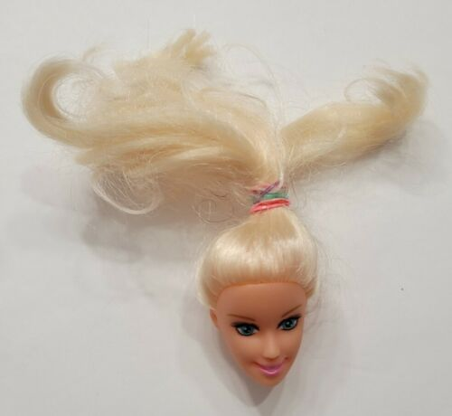 11.5 DOLL HEAD ONLY FOR REPLACEMENT OR OOAK BLONDE CAUCASIAN BARBIE CLONE - $2.94