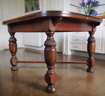 Antique Solid Timber Mahogany Extension Dining Table