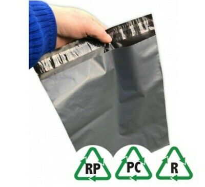50 Grey Mailing Bags Strong Poly Postal Postage Post Mail Self Seal 10