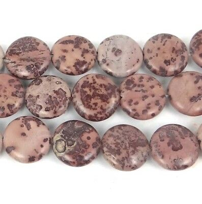 Jasper Disc - 16mm Natural Apache Sage Picture Jasper Coin Disc Beads (12)