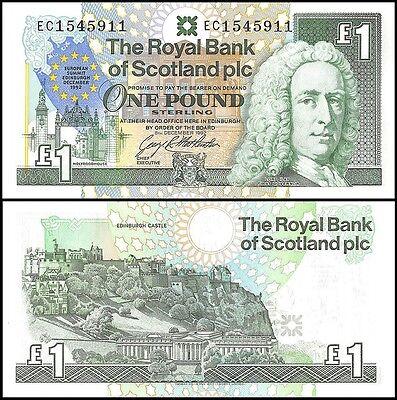 Scotland 1 Pound  1992  P 356  Unc  European Summit Edinburgh