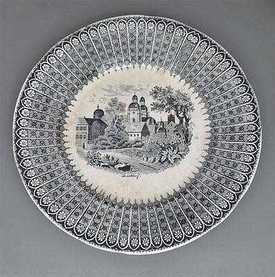 Villeroy & Boch Teller um 1860 -  Ansicht von Düsseldorf