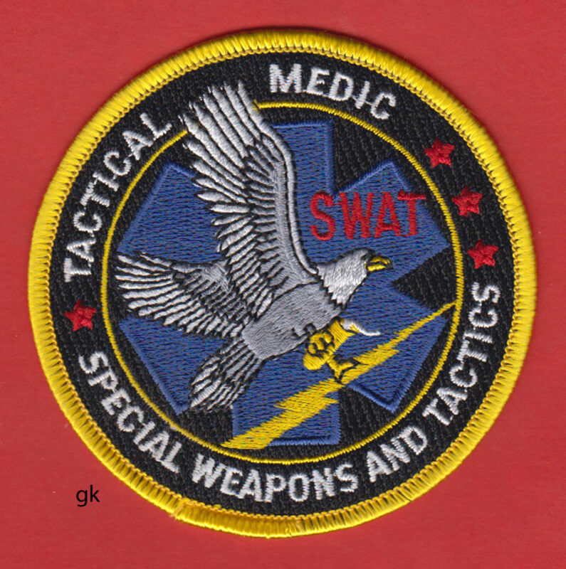 SWAT TACTICAL MEDIC POLICE SHOULDER PATCH
