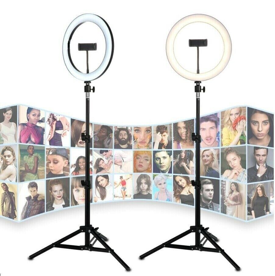 10 inch LED Ring Light includes Tripod Stand with Phone Holder Photography Video Cameras & Photo