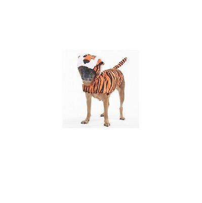 Halloween Kostüm Tiger für Hunde S - M Kunstpelz Akzente (Tiger Halloween-kostüme Für Hunde)