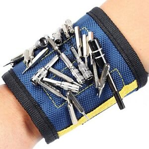 Powerful Adjustable Magnetic Wrist Band  for Holding Tools