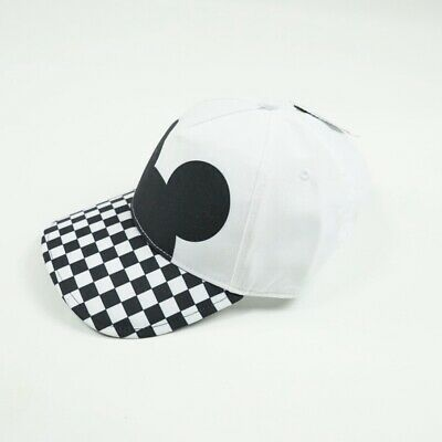 Disney X Vans Checkerboard Mickey Ears Court Side Hat / Cap - White / Black