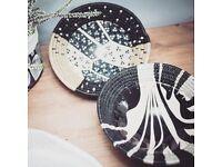 Pebbles design ceramic bowl