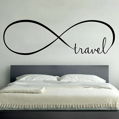 Infinity Travel   Wall Vinyl Decal Sticker Family Kids Room Forever Love Quote