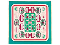 Hermes scarf Bouclerie Moderne RRP£295.00 White Green Pink