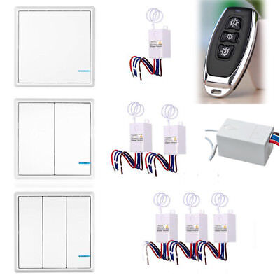 Wireless Smart Lamp Light Wall Switch 1 2 3 Ways Gangs ON/OFF Remote Control