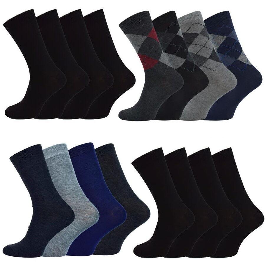 12-24 Paar Herren Socken aus Baumwolle ✅  Baumwollsocken ✅ Business Strümpfe ✅
