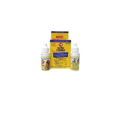 Ear Mite for Dog & Cat Treatment  2-1oz combo pack - Ear cleaner
