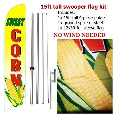 Sweet Corn Feather Swooper Flutter Flag Vertical Banner Kit