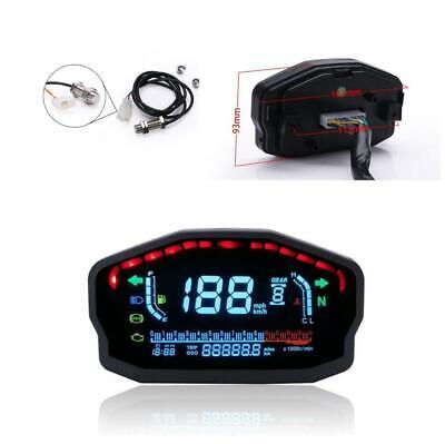 Motorcycle Bike ATV LCD Speedometer Digital Odometer Water Temp Oil Level Gauge