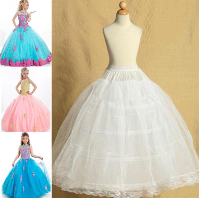 Flower Dress Children Underskirt Kids Wedding Crinoline Petticoat Pct6
