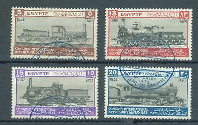 Thematics, trains Egypt 1933 set of 4 sg.189-92 used