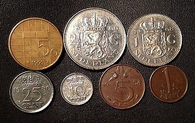 Netherlands Coin Lot   Full Set Of Pre Euro Dutch Coins   Free Shipping