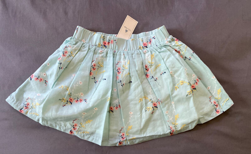 Toddler Girl Size 2 2T Baby Gap Blue Floral Print Pull On Skirt & Bloomers