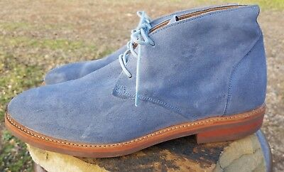 Walk Over Light - WALK-OVER R04036 Mens Light Blue Suede Leather Chukka Boots Vibram Sole 10.5 M