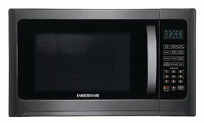 Farberware Microwave Oven Black Line 1.2 Cu. Ft. 1100 Watt with Grill Function