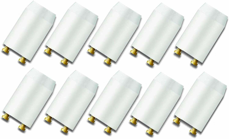 10 PHILIPS S10 Starter Leuchtstoffröhre 4-65 W Leuchtstofflampe Neonröhre Zünder