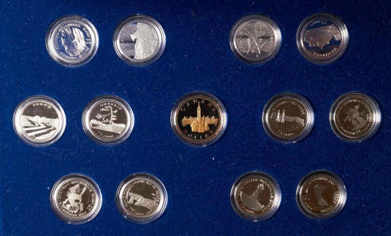 1992 Canadian Commemorative Set. 25¢  Silver Proof