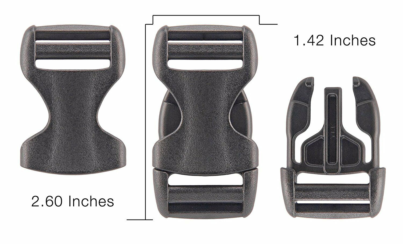 YKK 10-1 Inch Flat Heavy Duty Dual Adjustable Side Release P