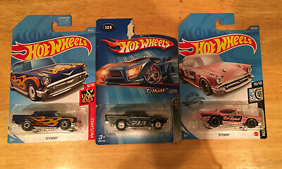 NEW HOT WHEELS '57 Chevy Series W/TREASURE HUNT LOTS OF 3