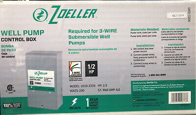 3 Wire 12 Hp Zoeller Well Pump Control Box Submersible
