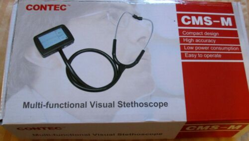 NEW in BOX CONTEC CMS-M Multi-Function Visual Stethoscope, Oximeter Probe SALE