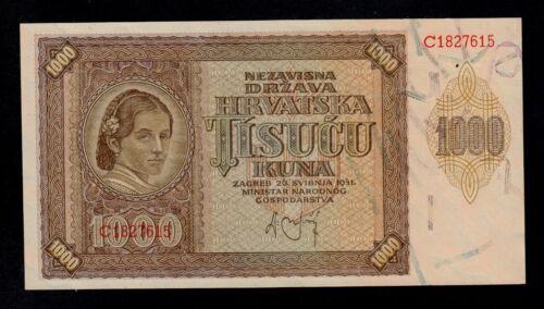 CROATIA 1000 KUNA 1941  PICK # 4 UNC LESS.