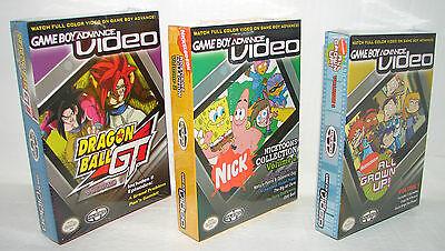 Lot Of 3 Gameboy Advance Videos Dragonball , Nicktoons & More