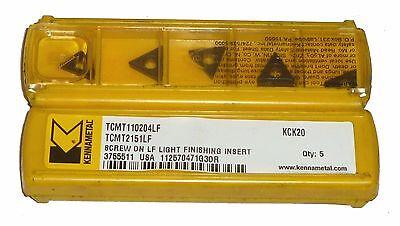 10 Kennametal Tcmt2151lf Tcmt110204lf Carbide Inserts Kck20 Grade