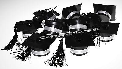 Graduation Cap Party Favors (12 PC GRADUATION BLACK CAP AND TASSEL  PARTY FAVORS RECUERDOS KEEPSAKES)