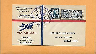 US # C7  FIRST FLIGHT TRIP CAM NO 8 ELKO  NEV SEP 15,1926 8S2