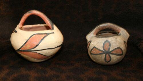 A Lot of (2) Antique Santo Domingo (Kewa) Pueblo Pottery Baskets