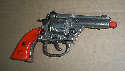 Old Cap Gun GENE AUTRY Kenton Toys 1940's RARE RED JEWEL VERSION Red Grips