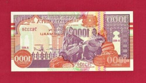 1,000 SHILIN SOOMAALI Somali Shillings 1990 - COLORFUL SOMALIA UNC NOTE (P-37a)