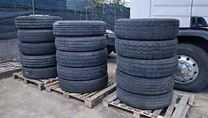 Truck tyres assorted for free mudt take all tyres good or bad Moorebank Liverpool Area Preview