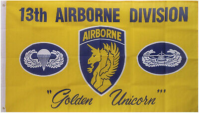 3x5 US Army 13th Airborne Golden Unicorn Flag 3'x5' Banner F