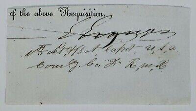 Major General GORDON GRANGER Cut Signature Autograph *Responsible for Juneteenth
