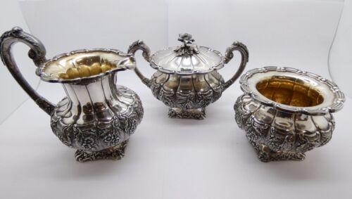 Vintage Spritzer & Furhmann Sterling Silver  Sugar Bowl, Creamer & Waste Bowl