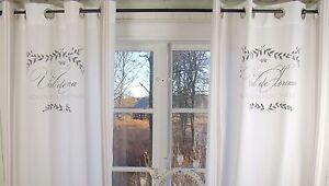 LillaBelle MAJE Rosa Gardine Vorhang 2 x 120x240 Shabby Vintage Landhaus Curtain