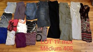 Médium LOT femme 17 robes, pantalons, chandails, shorts