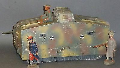 Mebanol Tank / Panzer A7V 1/20 Messingmodell 1.WK für 9-10cm Lineol Soldaten