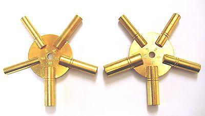 2 Stück Uhrenschlüssel, Sternschlüssel Nr.4-6-8-10-12+3-5-7-9-11 Uhren Schlüssel