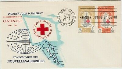 New Hebrides  1963  FDC Red Cross Centenary issue   good condition