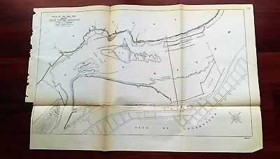 1892 Map Falls of OH River Goose Island Louisville and Portland Canal Sand Isle
